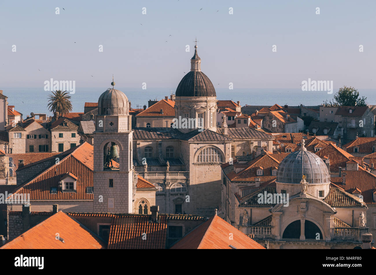 Classic view of the historic town of Dubrovnik, one of the most famous tourist destinations in the Mediterranean - Stock Image
