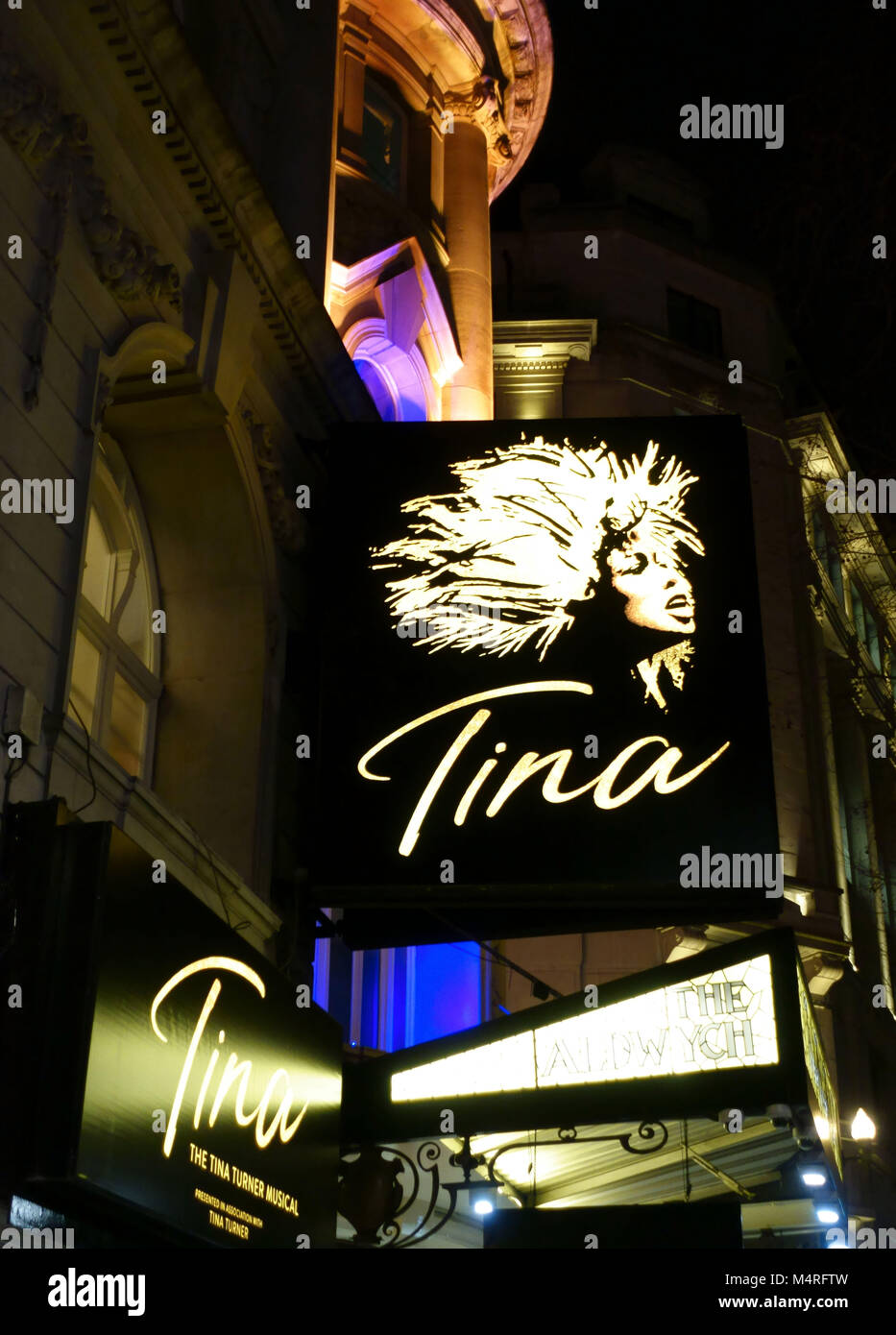 'Tina' musical about Tina Turner at Aldwych Theatre, London - Stock Image