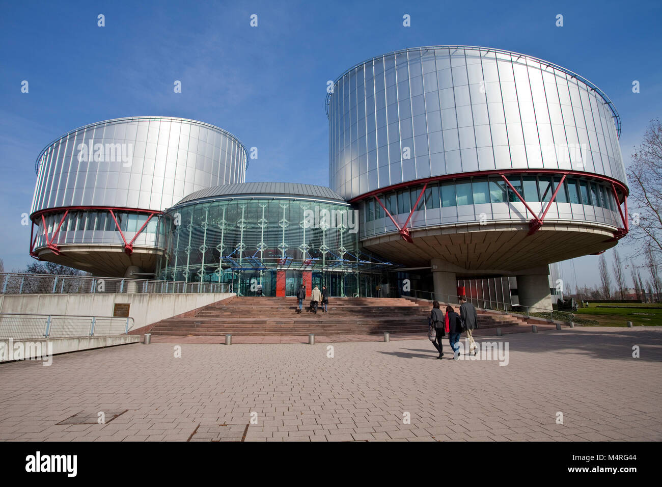 European Court of Justice for human rights, Strasbourg, Alsace, Bas-Rhin, France, Europe - Stock Image