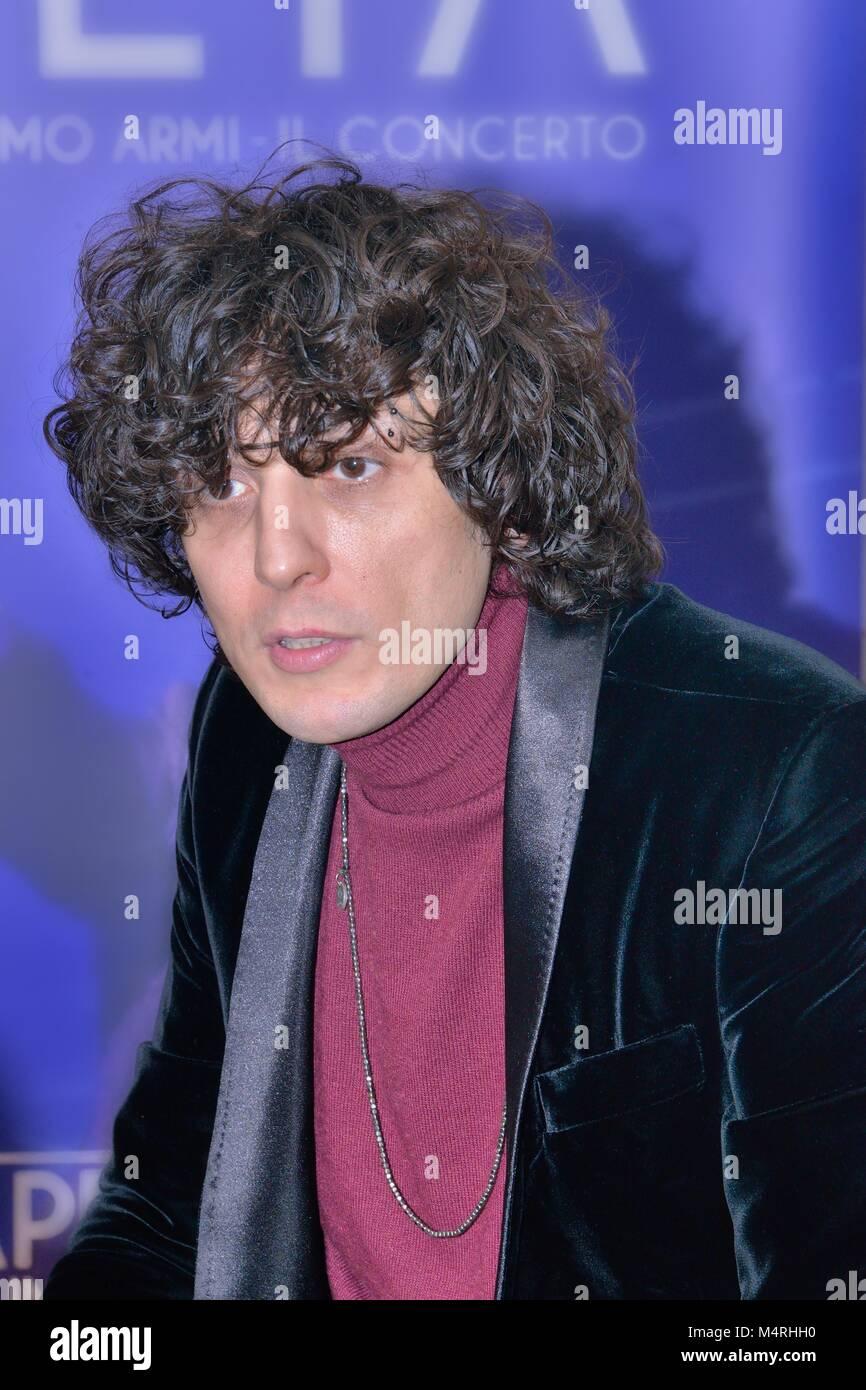 Ermal Meta Italian singer songwriter  in Milano - Stock Image