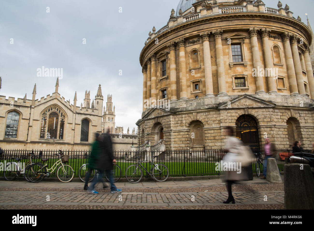 Radclife  Library, Oxford University, England - Stock Image