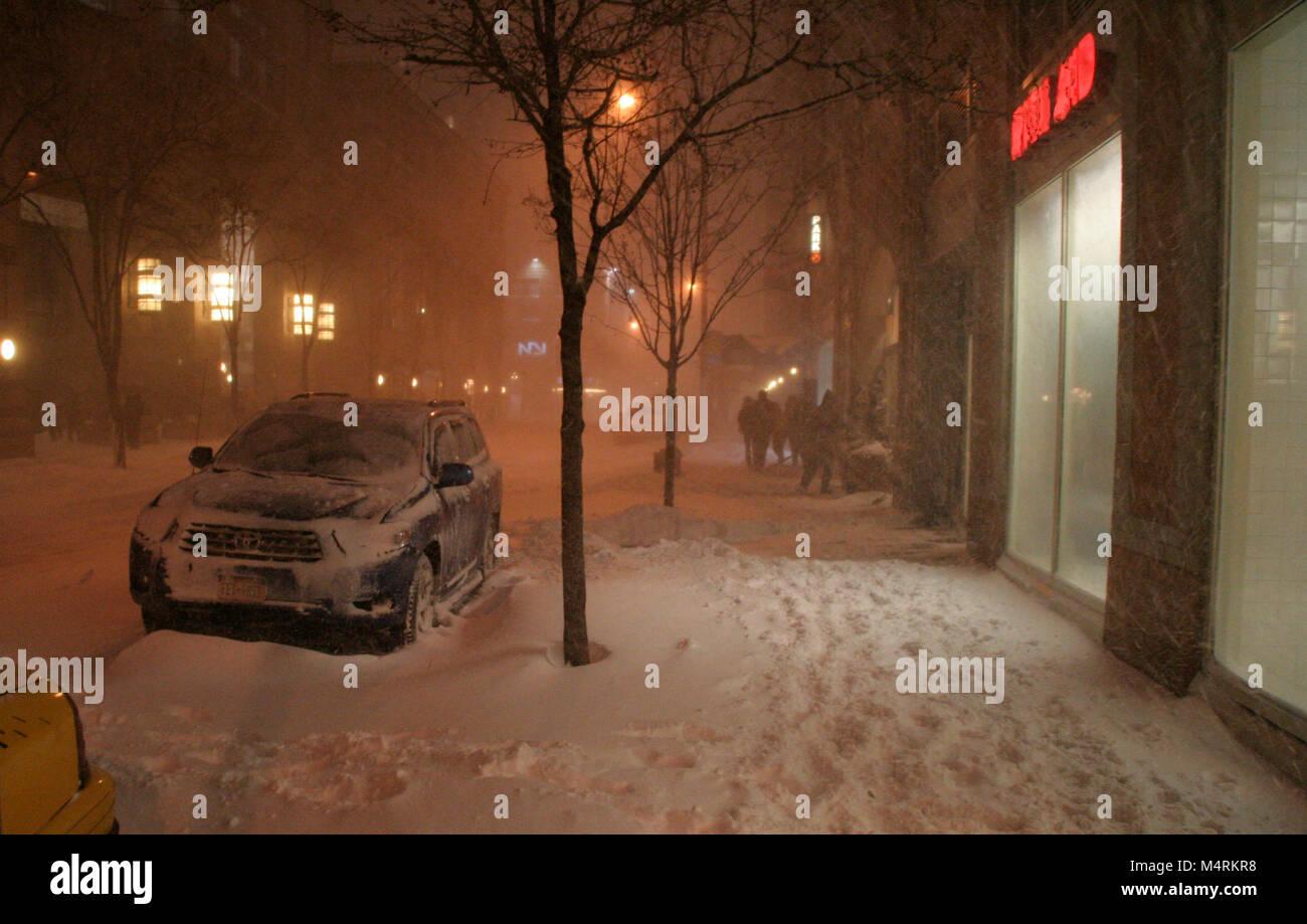 Blizzard in New York - Stock Image
