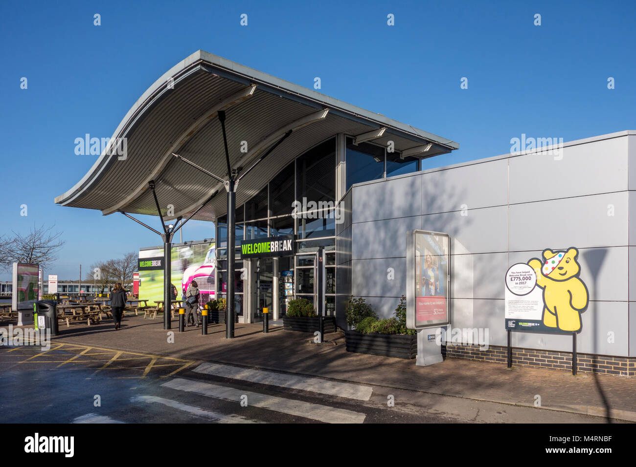Welcome Break motorway services on the M1 Newport Pagnell, UK - Stock Image