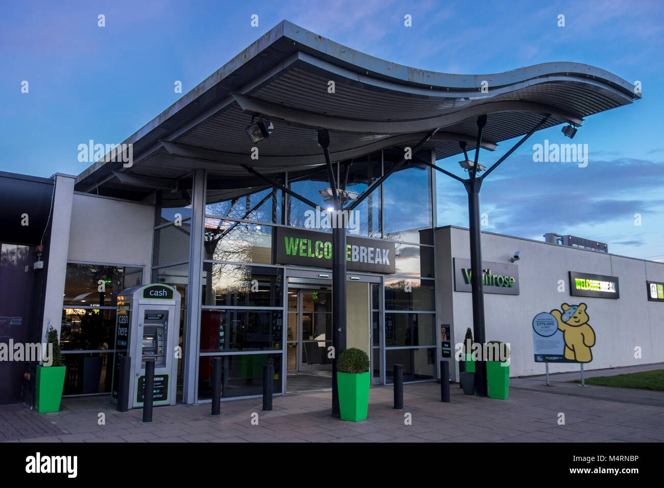 Welcome Break motorway services on the M6 Corley, UK - Stock Image