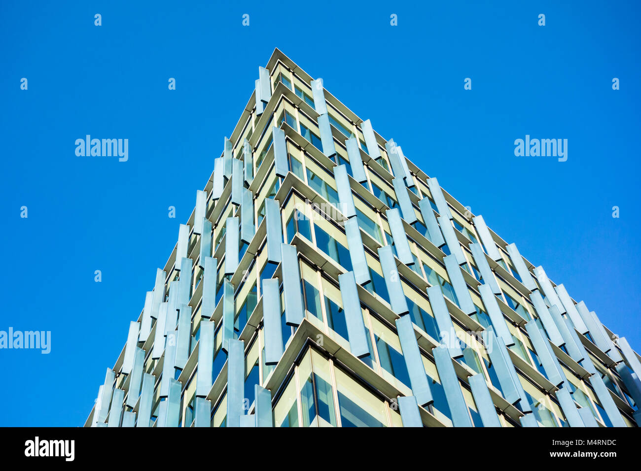 Blue Fin Building by Allies and Morrison, Bankside, 110 Southwark Street, London, UK - Stock Image