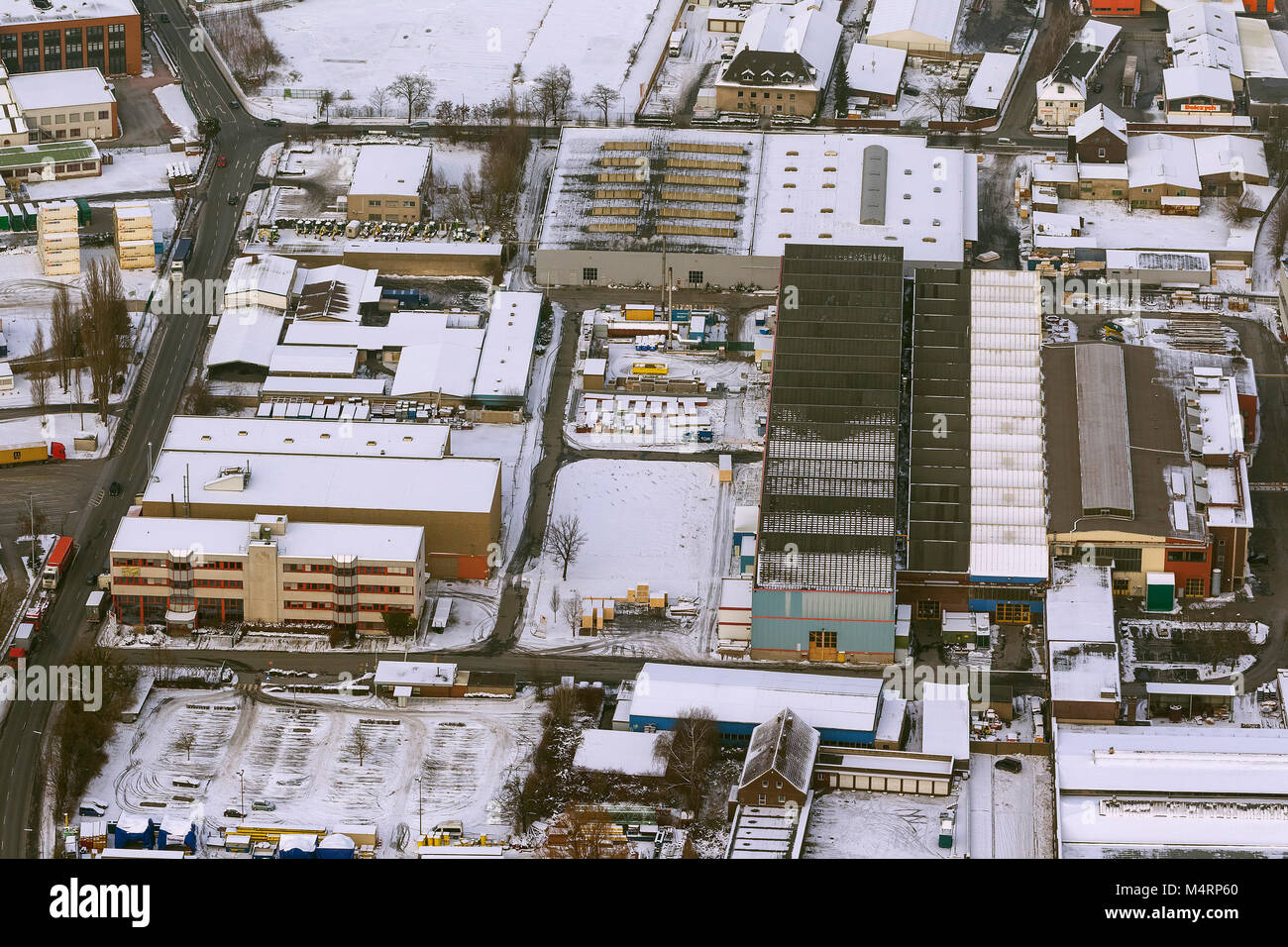 Aerial view, Port of Dortmund with the Envio management PCB scandal, Dortmund, Ruhr, Nordrhein-Westfalen, Germany, - Stock Image
