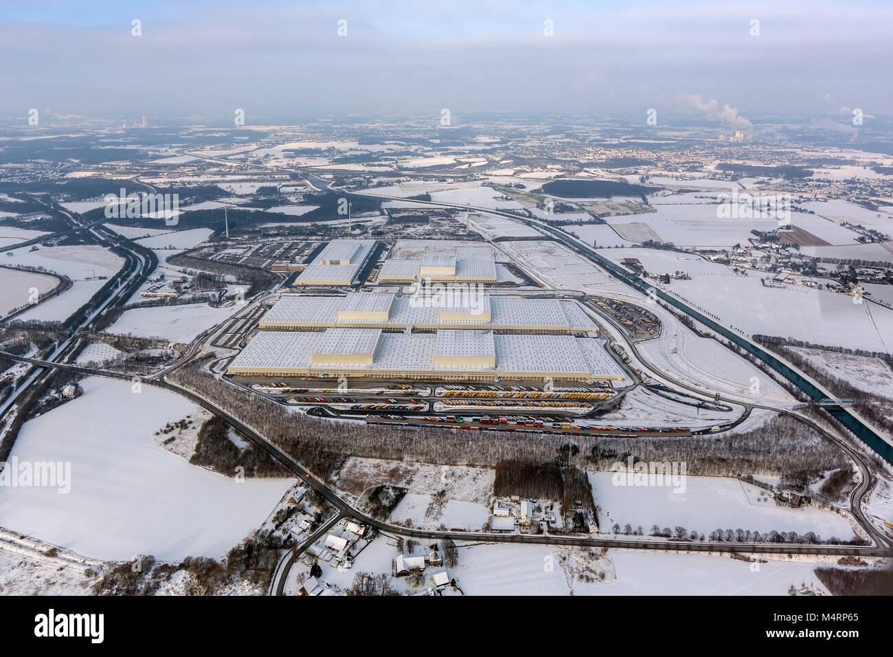 Aerial view, IKEA warehouse, IKEA Europe logistics, Dortmund, Ruhr area, North Rhine-Westphalia, Germany, Europe, Stock Photo
