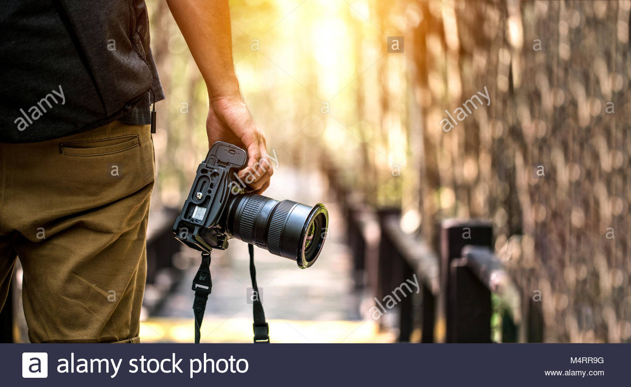 Nature Photography Concepts Professional photographer - Stock Image