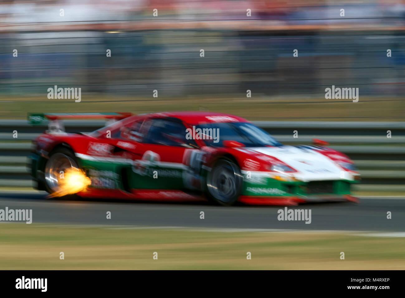 24H Of Le Mans 1996,Ferrari F120B 3.5L Turbo V8, Luciano della Noce,Anders Olofsson,Carl Rosenblad - Stock Image