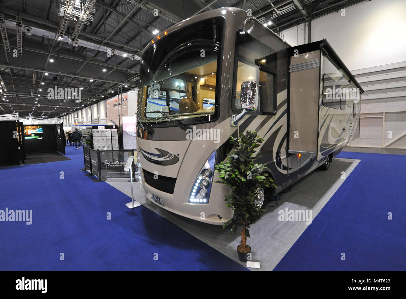 A Thor Windsport 29m Motorhome on display at the London Classic Car Show which is taking place at ExCel London, - Stock Image
