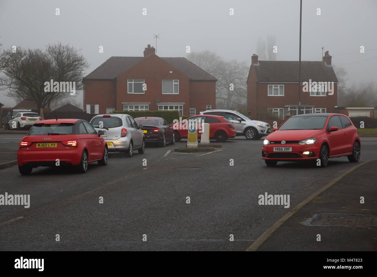 Marlborough,UK,18th February 2018,Misty and Foggy day in Barlborough Derbyshire©Keith Larby/Alamy Live News - Stock Image