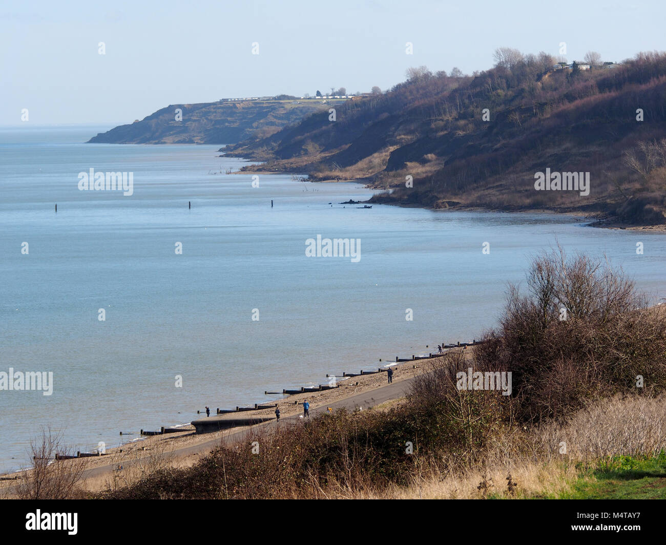 Minster on sea, Kent, UK. 18th Feb, 2018. UK Weather: another sunny and warm day in Minster on sea on the Isle of Sheppey in north Kent. Temp: 10c. Credit: James Bell/Alamy Live News Stock Photo