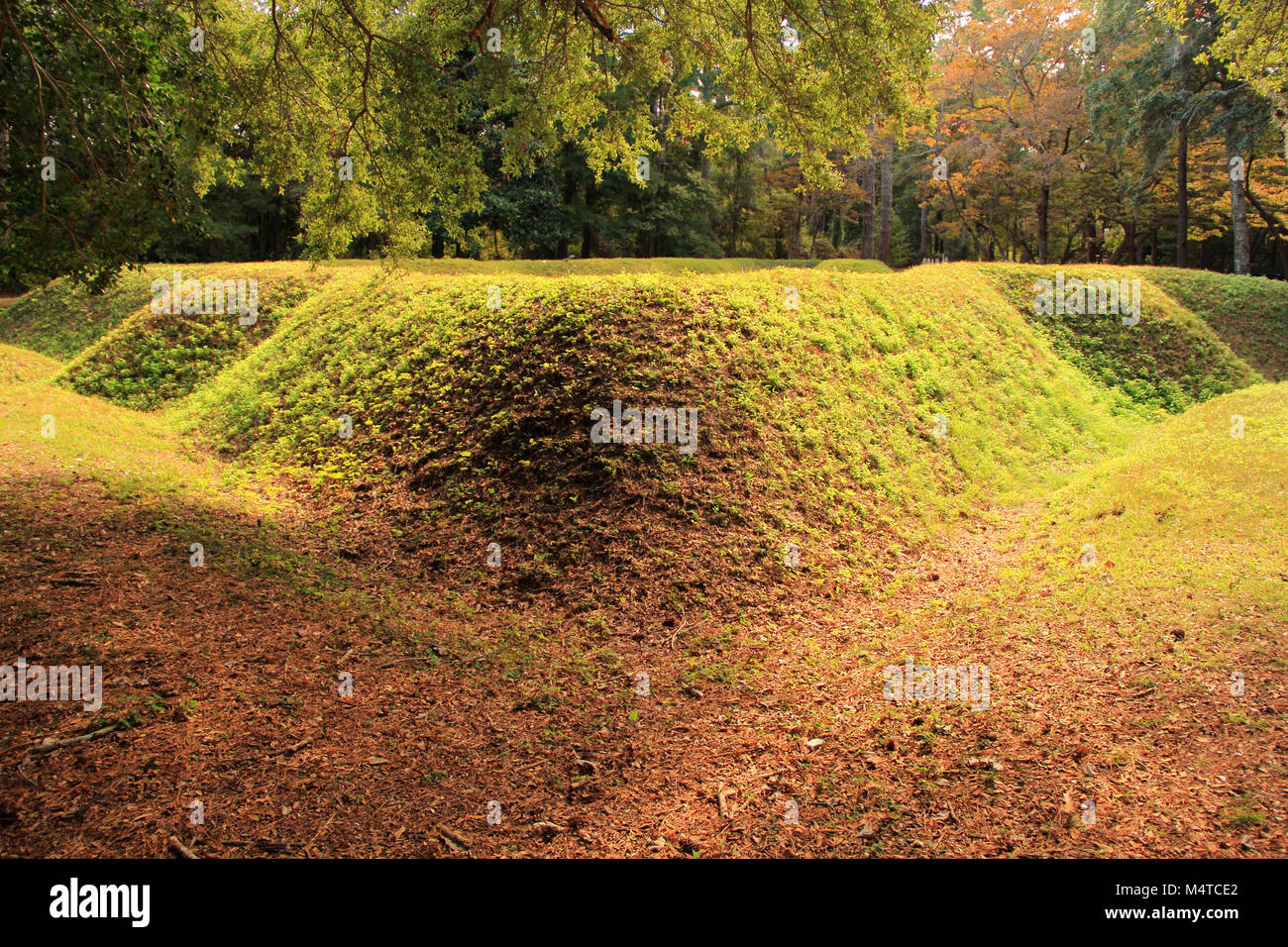 Reconstructed Earthen Fort at the Fort Raleigh National Historic Site on Roanoke Island, North Carolina - Stock Image