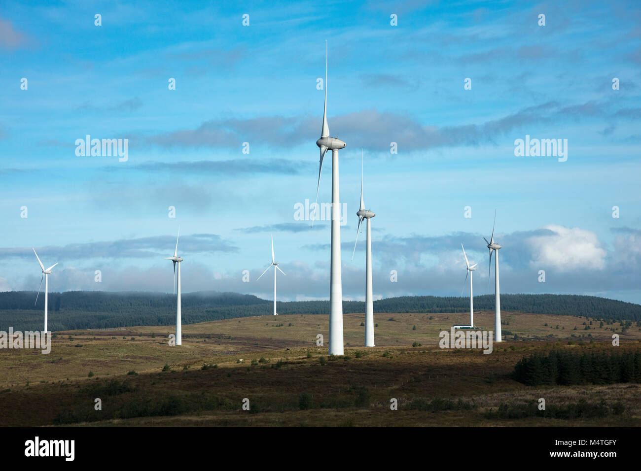 Dunmore Wind Farm, Formoyle, Limavady, County Derry, Northern Ireland. - Stock Image