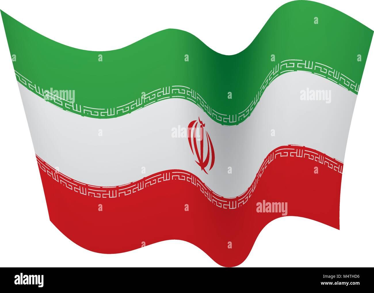 Iran flag, vector illustration - Stock Image