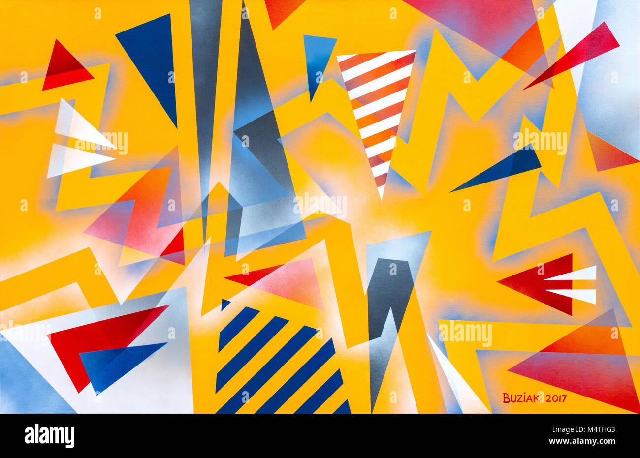 Abstract artwork by Ed Buziak - France. - Stock Image