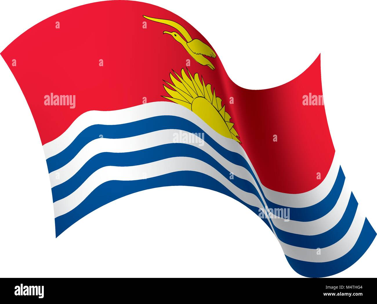 Kiribati flag, vector illustration - Stock Image