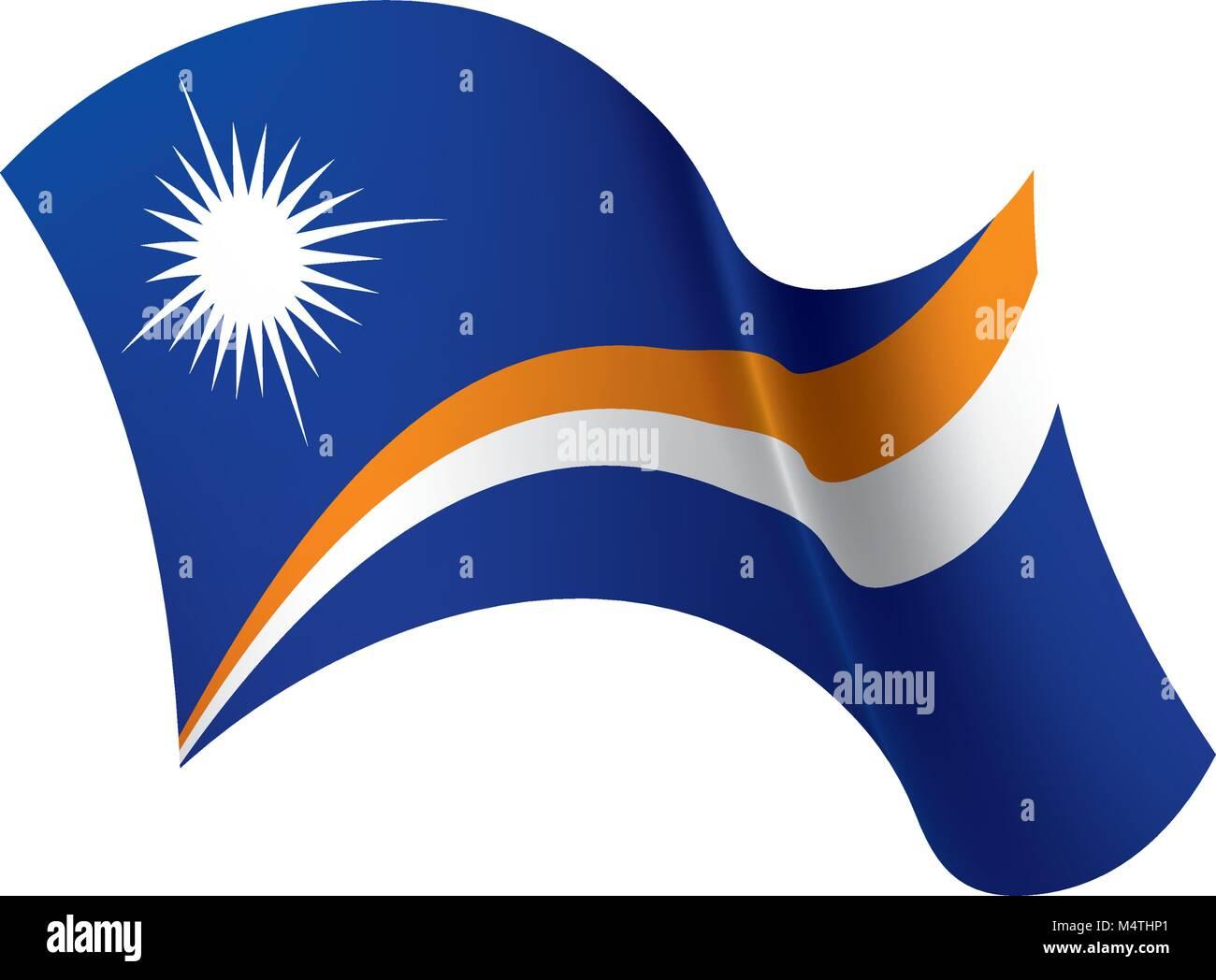 Marshall Islands flag, vector illustration - Stock Image
