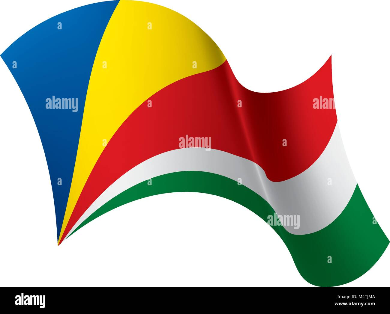 Seychelles flag, vector illustration - Stock Image
