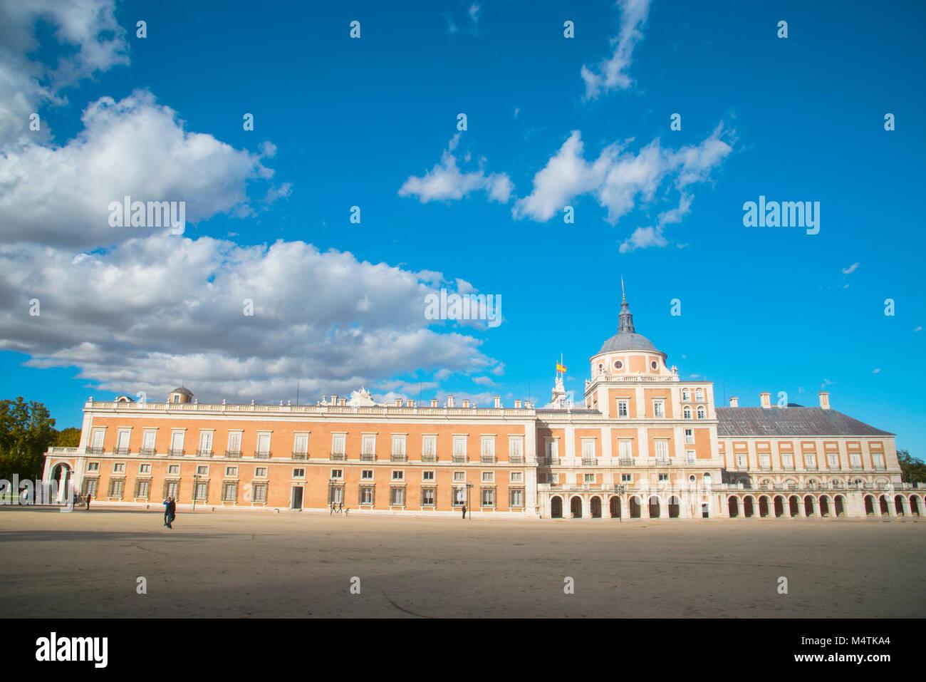 Facade of Royal Palace. Aranjuez, Madrid province, Spain. - Stock Image