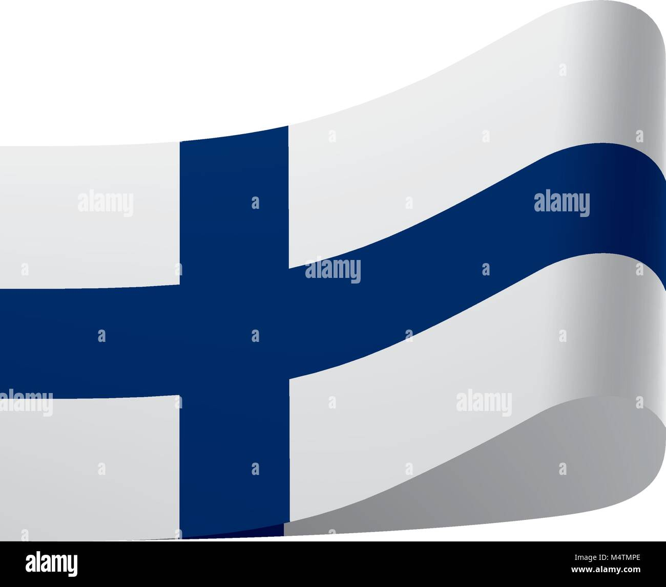 Finland flag, vector illustration Stock Vector
