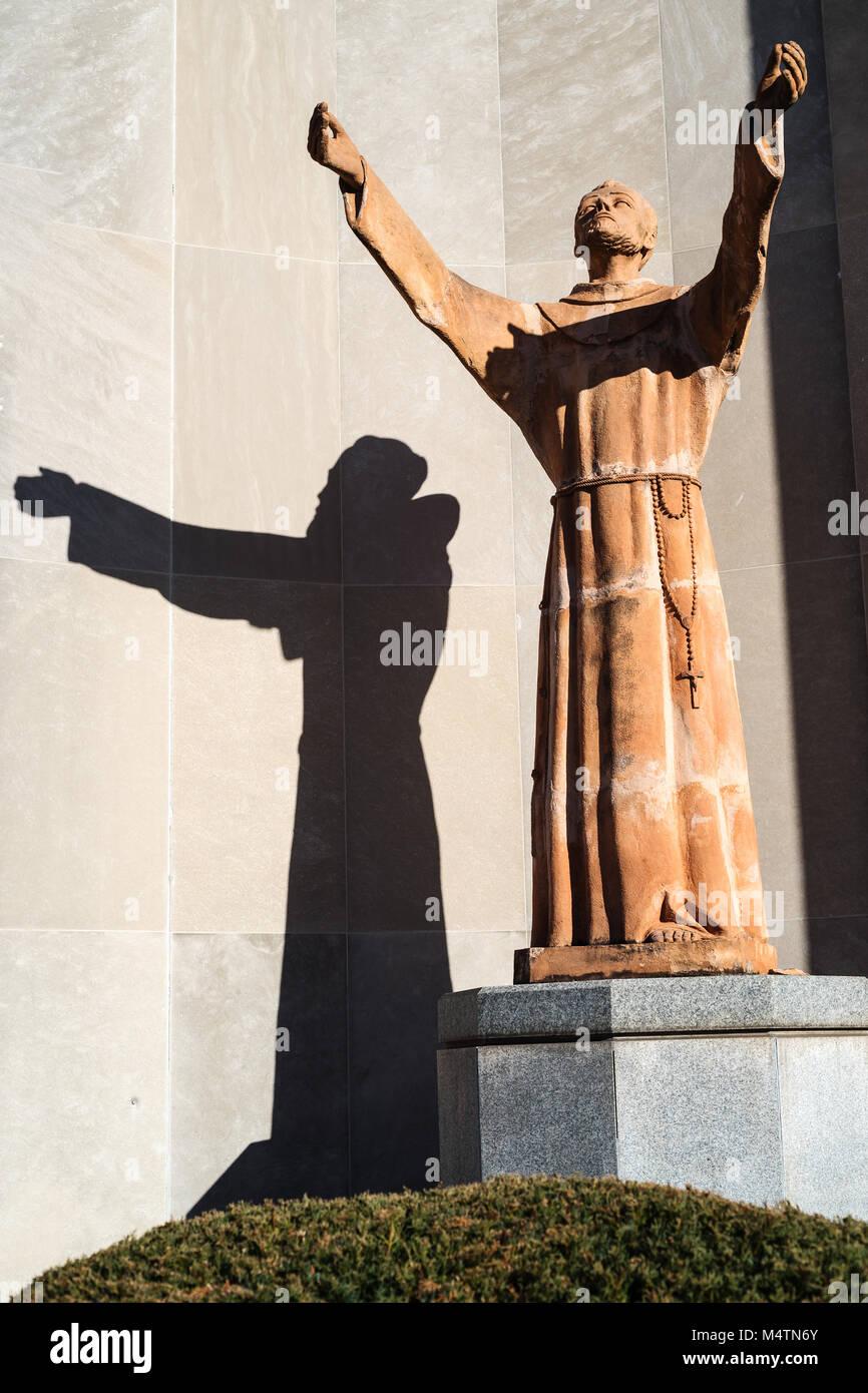 Statue, Archbishop Ryan High School, Northeast Philadelphia, USA - Stock Image
