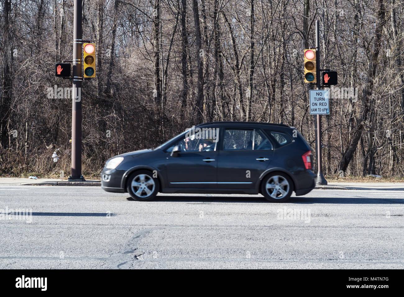 Traffic sign, Northeast Philadelphia, USA - Stock Image
