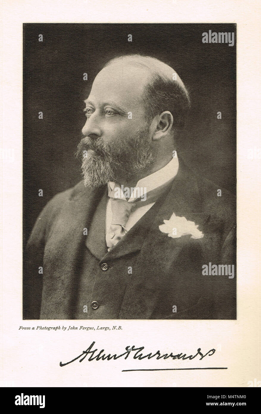 Edward VII, 1841–1910, reigned 1901-1910, King of the United Kingdom and the British Dominions, and Emperor of India - Stock Image