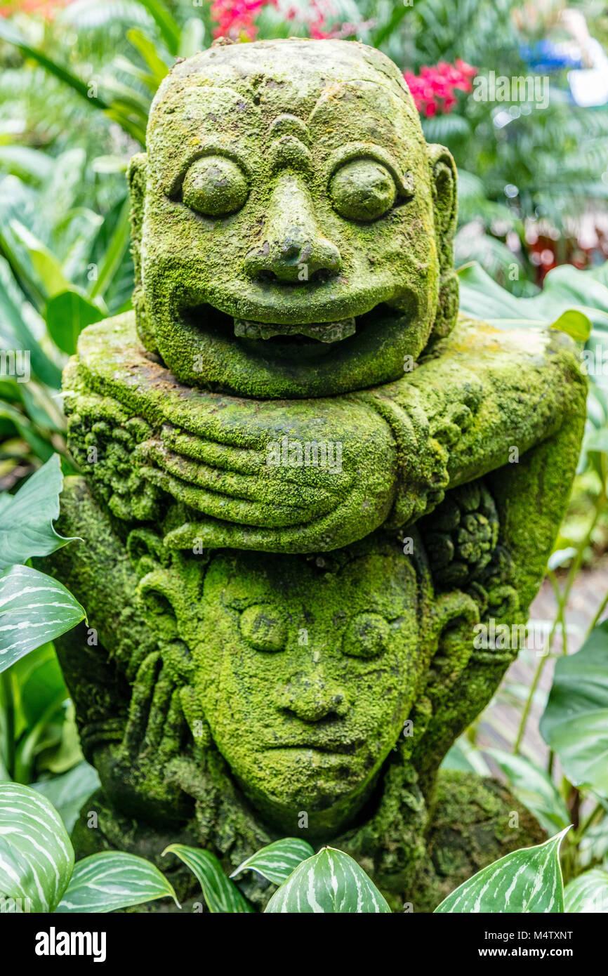 Singapore sculpture botanic gardens stock photos