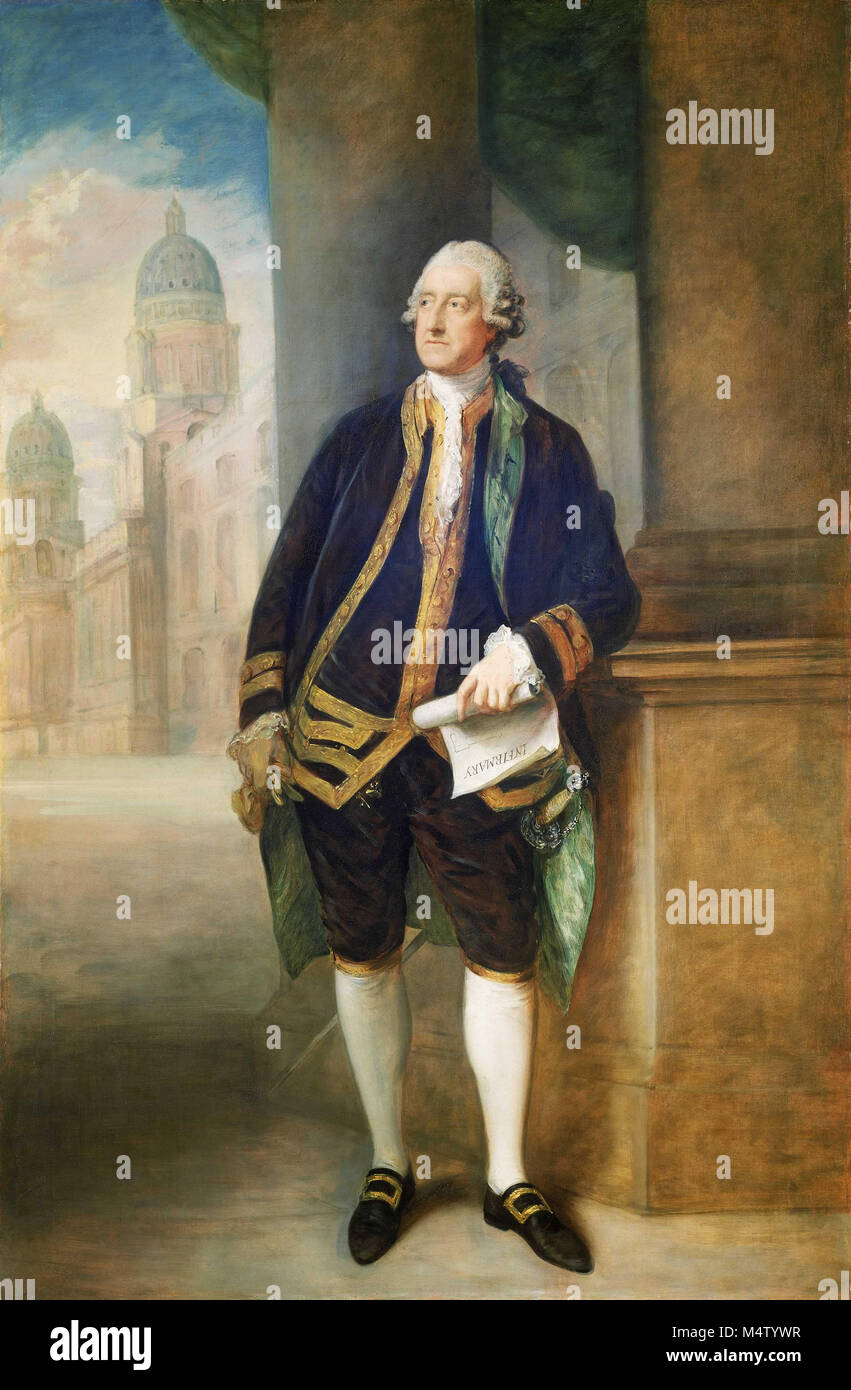 JOHN MONTAGU, 4th EARL OF SANDWICH (1718-1792) British statesman and probable inventor of the sandwich - Stock Image