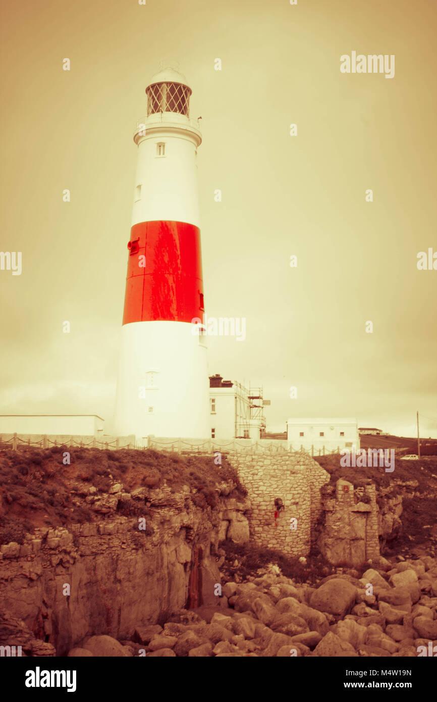 Portland Bill Lighthouse - Stock Image