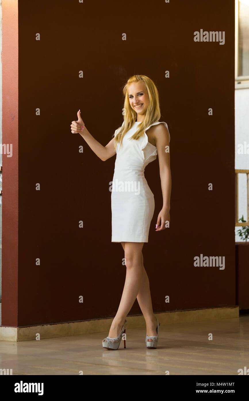 Young woman legs stiletto big heels MR model-released release alpfabet Stock Photo