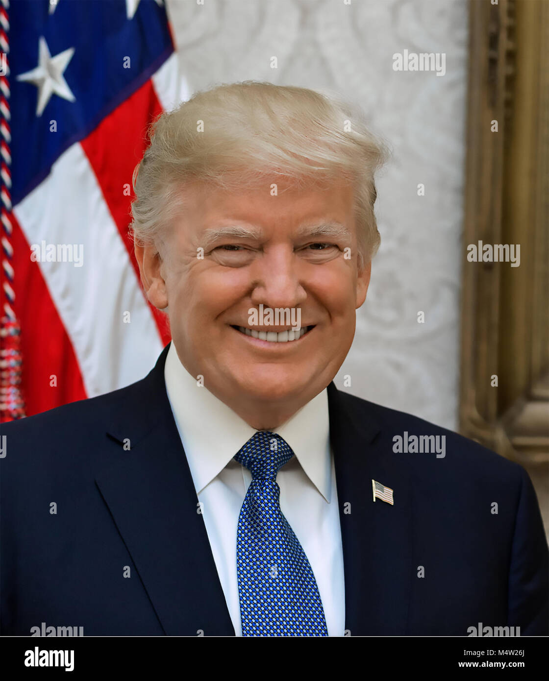 DONALD TRUMP as 45th President of the United States on 6 October 2017. Photo: Shealah Craighead - Stock Image