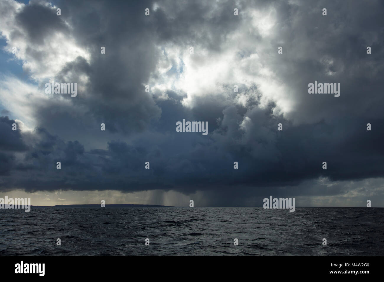 Atlantic storm brewing in Galway Bay, County Galway, Ireland. - Stock Image