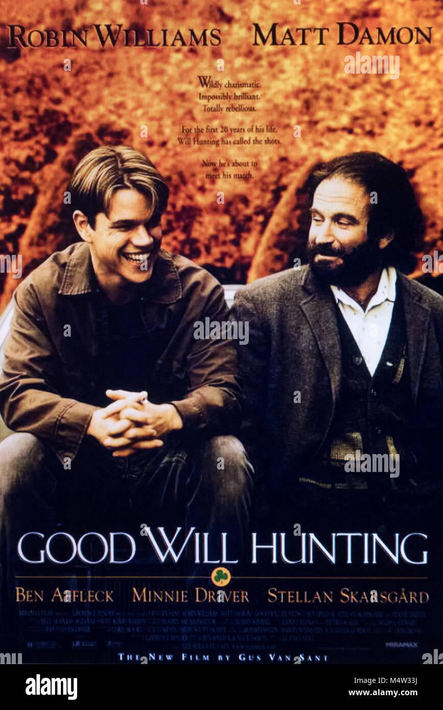 good will hunting film movie - Stock Image