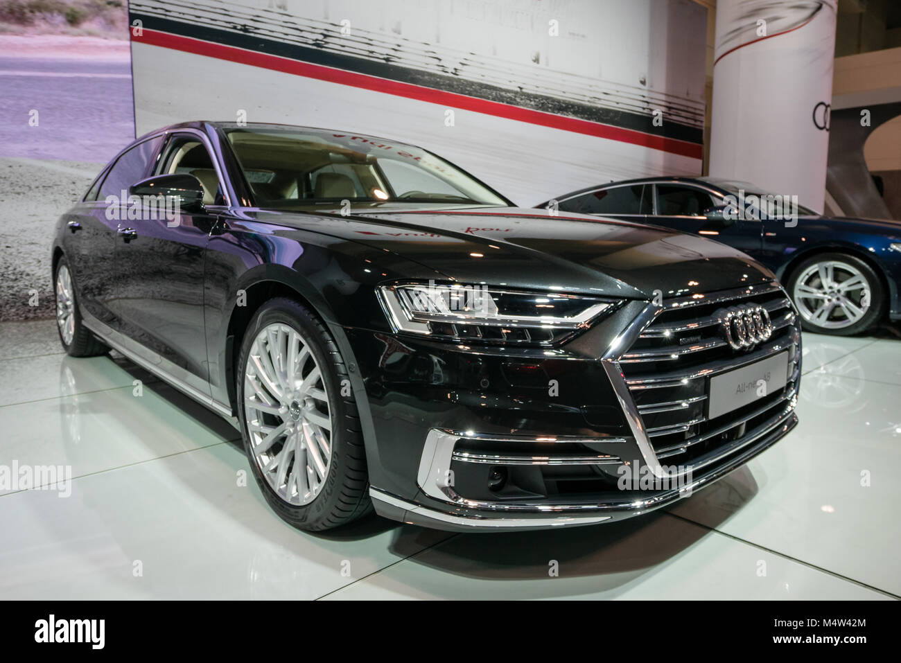 Black 2019 Audi A8 Stock Photo 175114316 Alamy