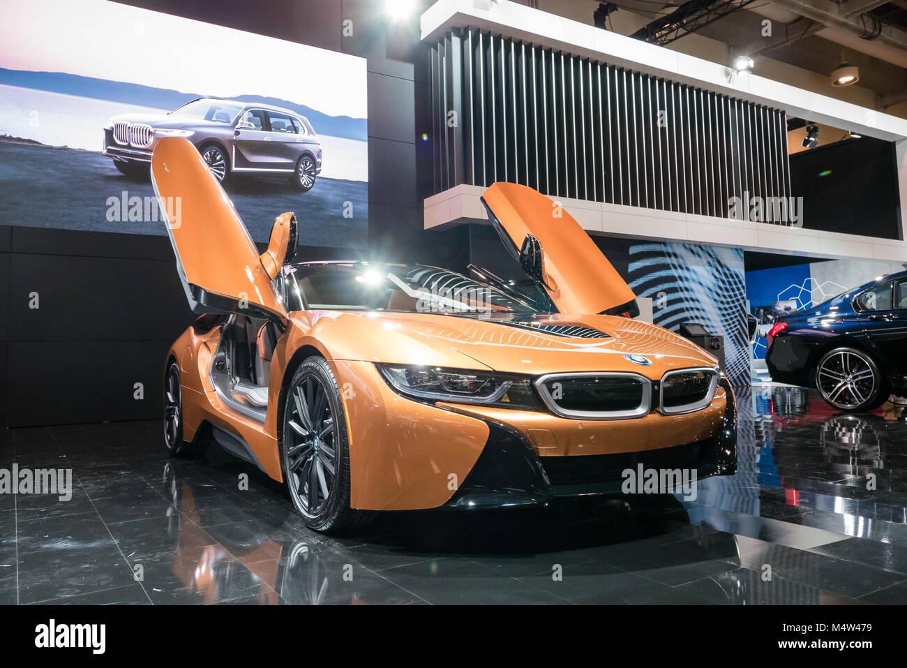 Orange Bmw I8 Electric Car Stock Photo 175114445 Alamy