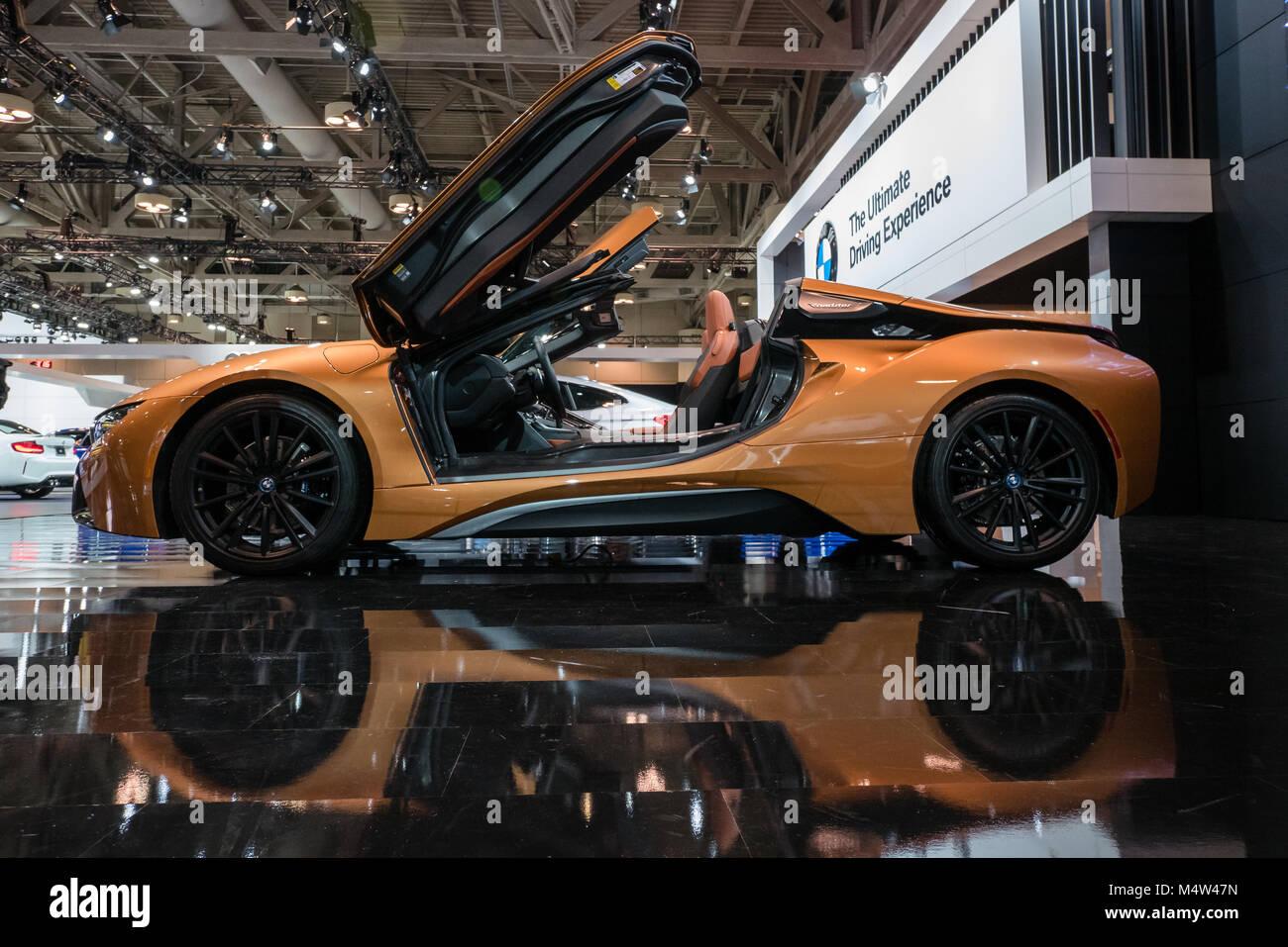 Orange Bmw I8 Electric Car Stock Photo 175114457 Alamy
