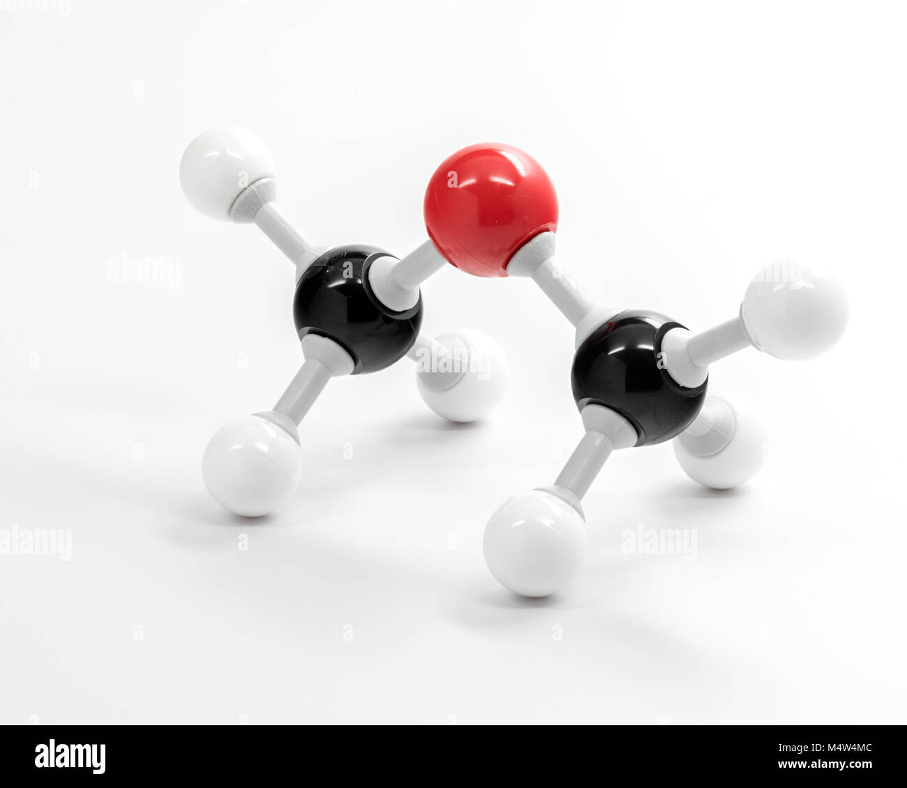 Periodic table of elements molecule on a white background - Stock Image