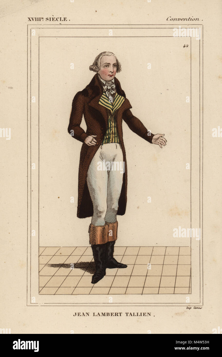 Jean Lambert Tallien, deputy to the National Convention, 1769-1820. He accompanied Bonaparte to Egypt as a member - Stock Image