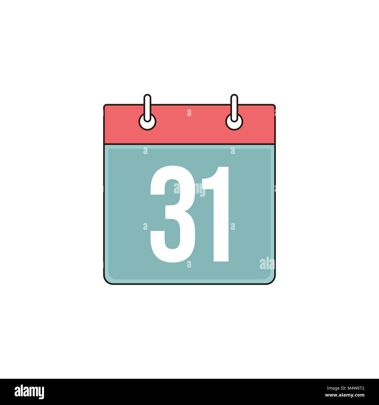 Bind Calendar Vector Outline Icon Illustration Graphic Design Stock Vector
