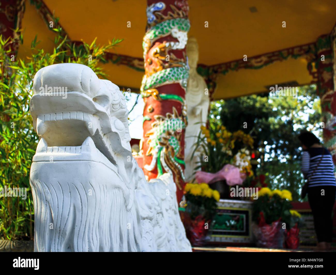 Statue outside Shrine - Stock Image