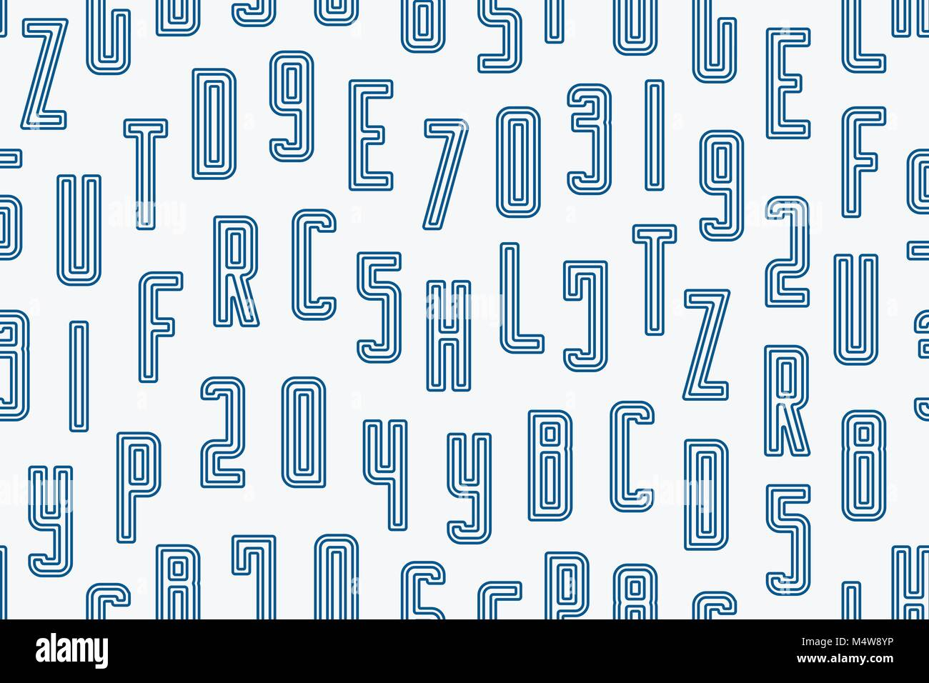 Abstract Seamless Pattern With Alphabet Letters Ornament Vector Lettering Style Background Fashion Textile Print Font Type Design Education