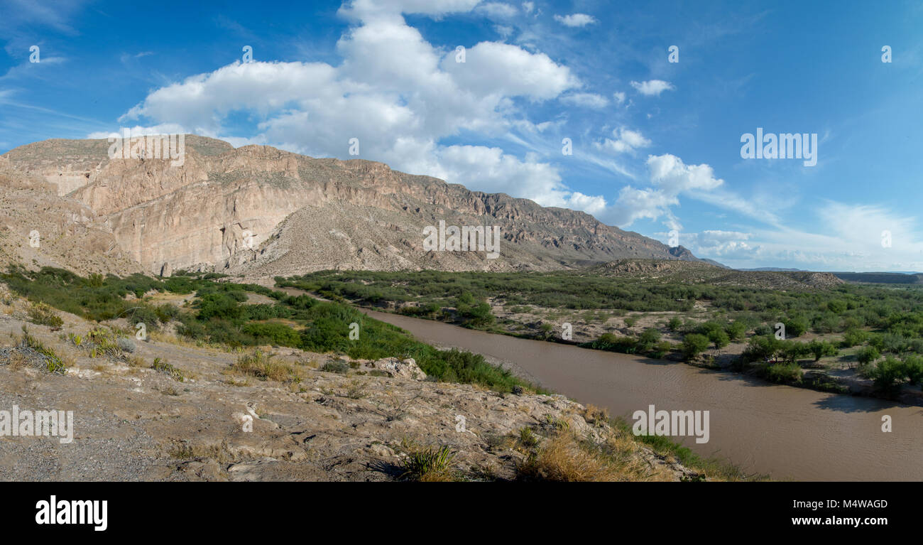 Rio Grande River in Big Bend National Park on the Mexico border - Stock Image