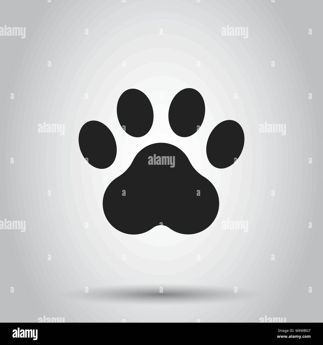b467c7a67472 Paw print animal icon. Vector illustration on isolated background. Business  concept dog or cat pawprint pictogram.
