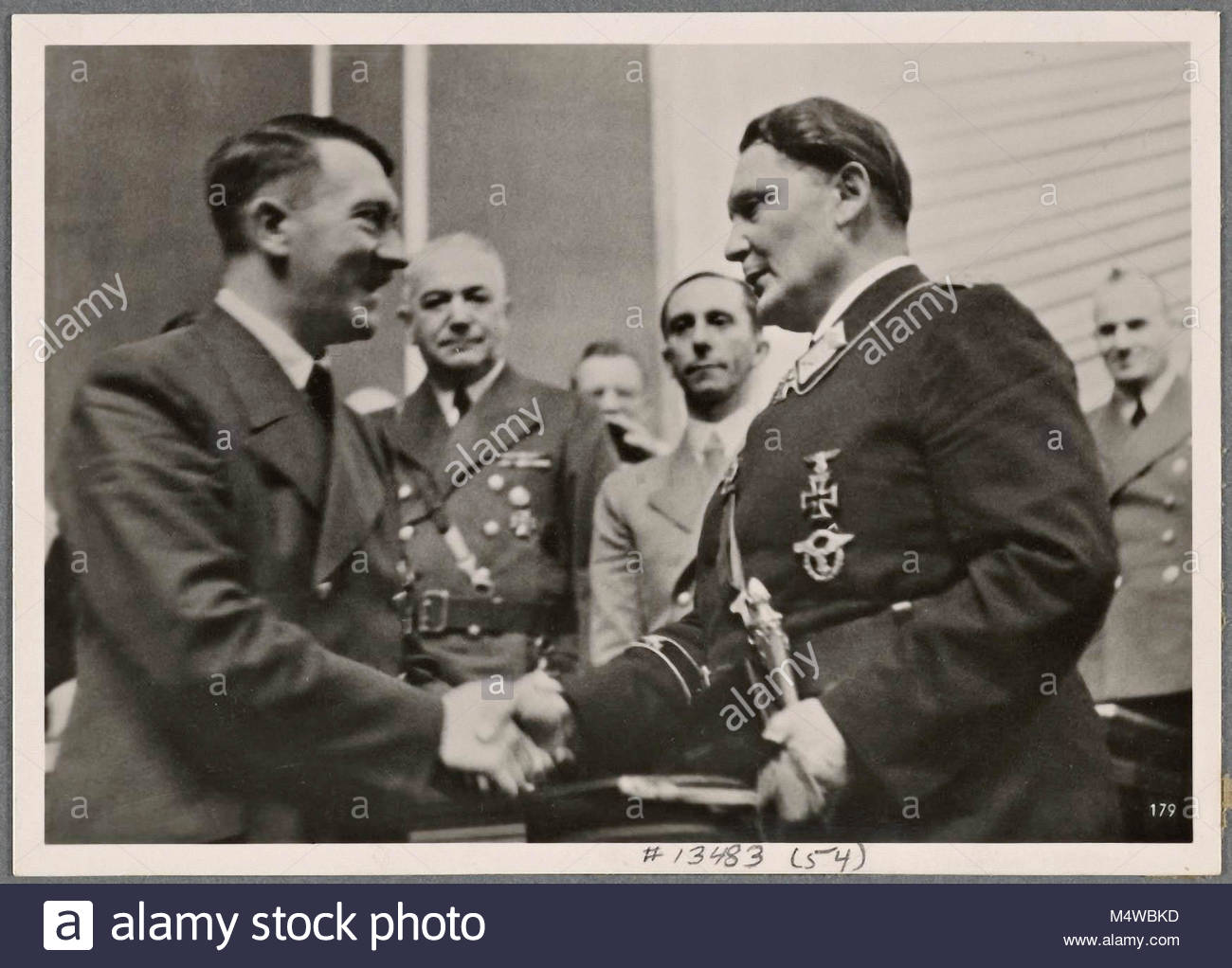 On July 19th, the Führer spoke to the German Reichstag in Berlin and the Italian Foreign Minister Ciano to - Stock Image