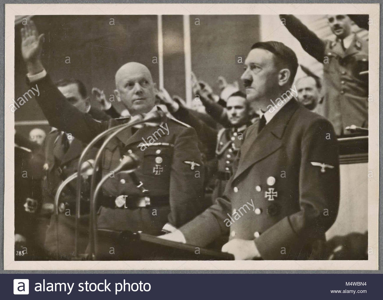 [In his speech to the Reichstag on October 6th, the Fuhrer again offered the hand of peace and outlined the new - Stock Image