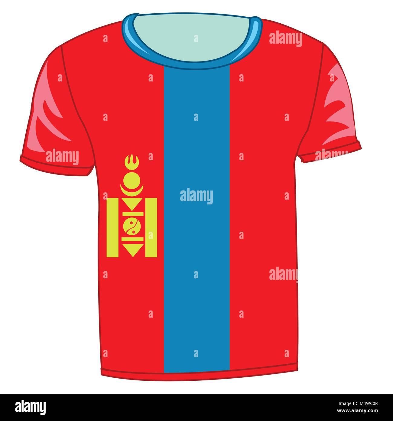 T-shirt flag Mongolia - Stock Vector