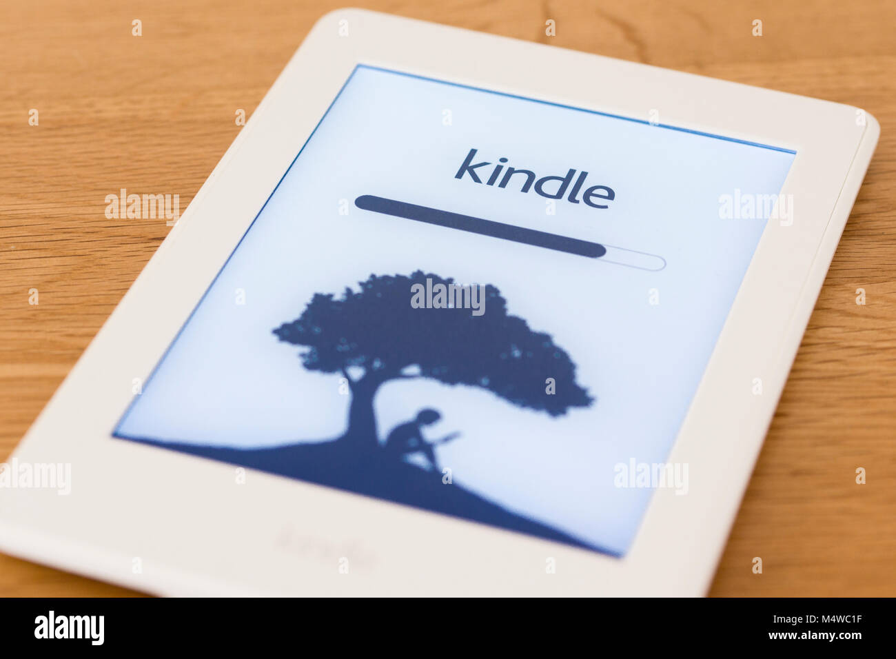 A kindle paperwhite eBook reader - Stock Image