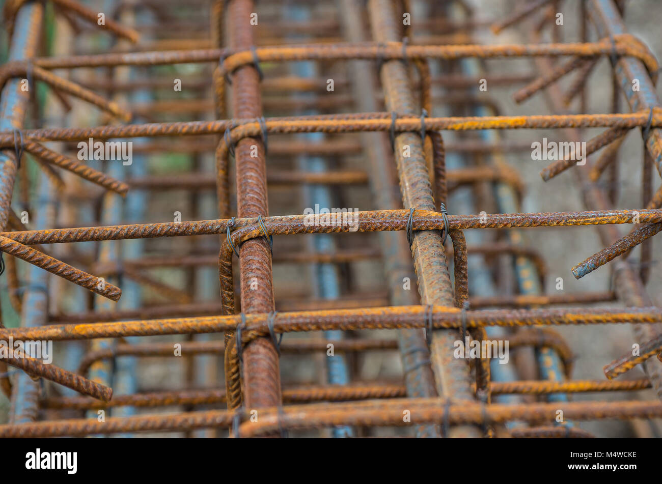 Reinforcement Cage Stock Photos Images Mesh Wiring Wire Of Concrete Pouring Image